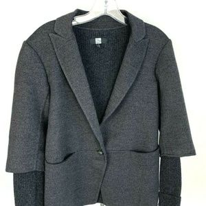 Saks Fifth Avenue Womens Sweater Coat Gray Size 8